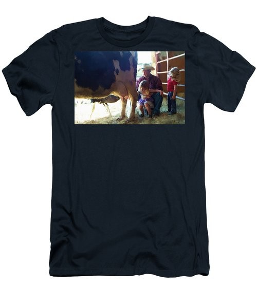Learning How To Get Milk Men's T-Shirt (Slim Fit) by Debra Baldwin