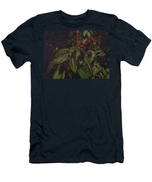 Men's T-Shirt (Slim Fit) featuring the painting Leaving Monroe by Thu Nguyen