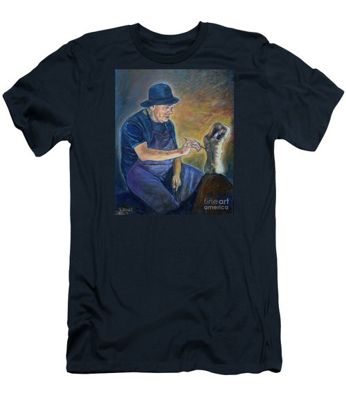 Figurative Painting Men's T-Shirt (Athletic Fit)