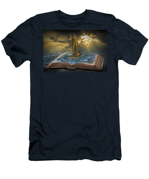 Let The Adventure Begin Men's T-Shirt (Slim Fit) by Randall Nyhof