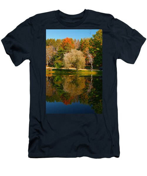 Letchworth Autumn Reflections Men's T-Shirt (Slim Fit) by Richard Engelbrecht