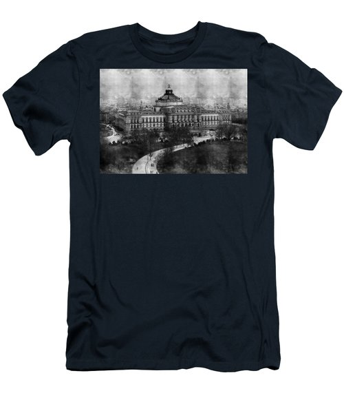 Library Of Congress Washington Dc 1902 Sketch Men's T-Shirt (Athletic Fit)