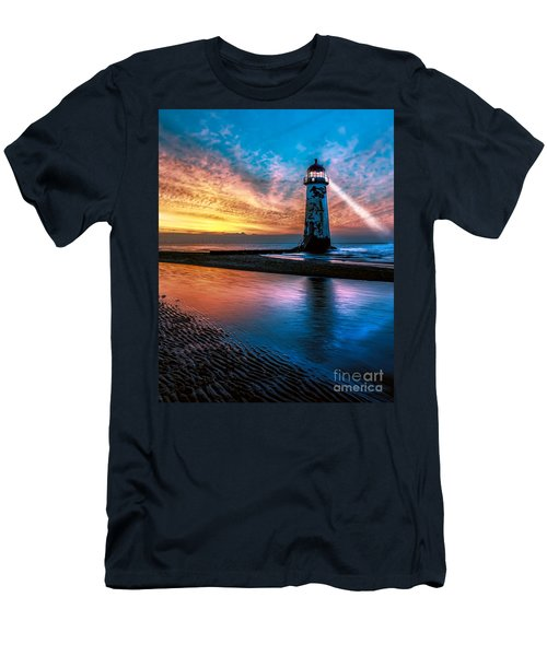 Light House Sunset Men's T-Shirt (Athletic Fit)