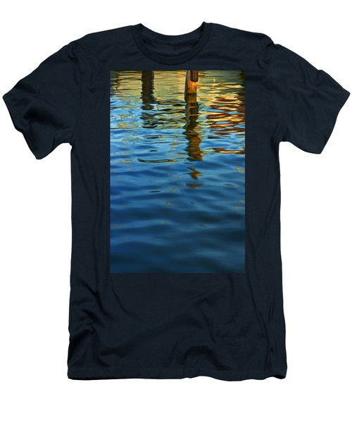 Light Reflections On The Water By A Dock At Aransas Pass Men's T-Shirt (Athletic Fit)