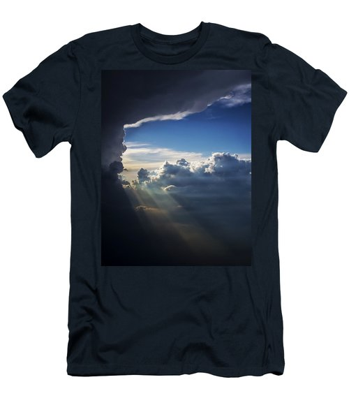 Light Shafts From Thunderstorm II Men's T-Shirt (Athletic Fit)