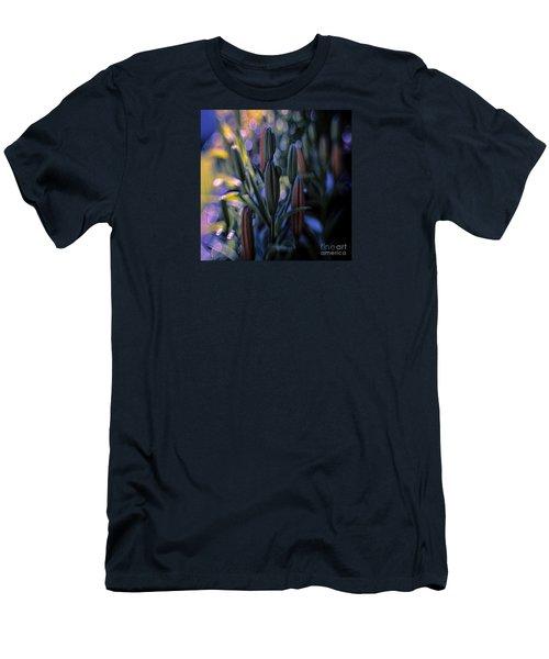 Lily Light Men's T-Shirt (Slim Fit) by Jean OKeeffe Macro Abundance Art