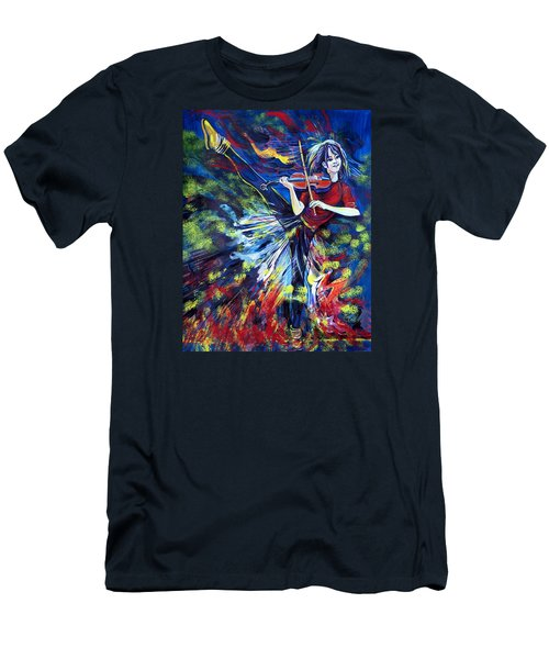 Lindsey Stirling. Dancing Violinist Men's T-Shirt (Athletic Fit)
