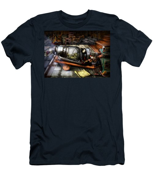 Little Mouse And The Moon Men's T-Shirt (Slim Fit) by Alessandro Della Pietra
