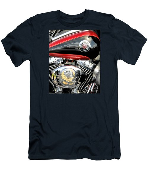 Men's T-Shirt (Athletic Fit) featuring the photograph Live To Ride  Ride To Live By David Lawrence by David Perry Lawrence
