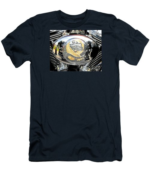Men's T-Shirt (Athletic Fit) featuring the photograph Live To Ride - Ride To Live 2 By David Lawrence by David Perry Lawrence