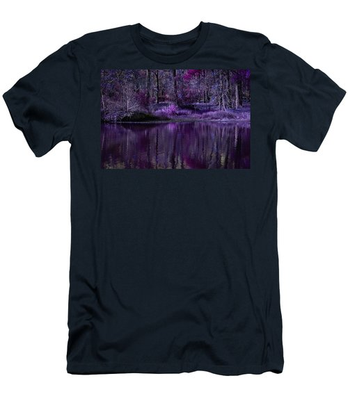 Living In A Purple Dream Men's T-Shirt (Slim Fit) by Linda Unger