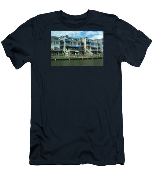 Men's T-Shirt (Slim Fit) featuring the photograph Living On The Dock Of The Bay by Emmy Marie Vickers