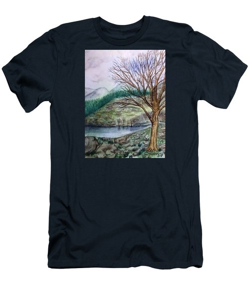 Loch Ard Stirling Overlooking Loch A'ghleannain Men's T-Shirt (Athletic Fit)