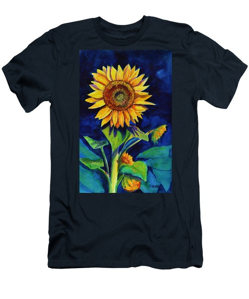 Midnight Sunflower Men's T-Shirt (Athletic Fit)