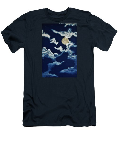 Look At The Moon Men's T-Shirt (Slim Fit) by Katherine Young-Beck