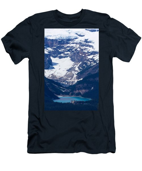 Looking Down At Lake Louise #2 Men's T-Shirt (Athletic Fit)