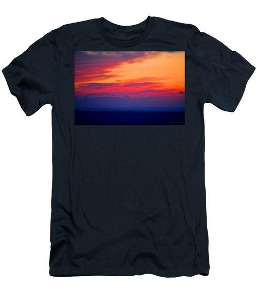 Lookout Mountain Sunset Men's T-Shirt (Slim Fit) by Tara Potts