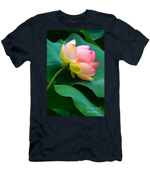 Lotus Blossom And Leaves Men's T-Shirt (Athletic Fit)