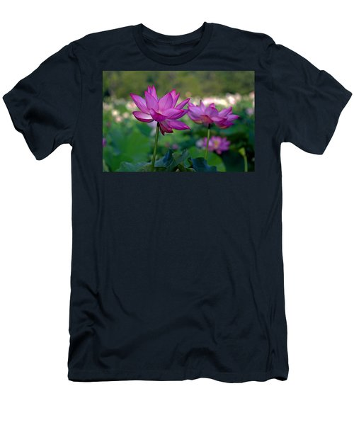 Men's T-Shirt (Slim Fit) featuring the photograph Lotus Flowers by Jerry Gammon