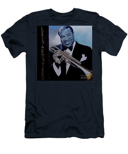 Louis Armstrong Men's T-Shirt (Slim Fit) by Chelle Brantley