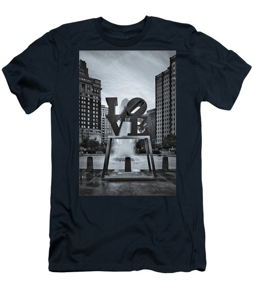 Love Park Bw Men's T-Shirt (Athletic Fit)