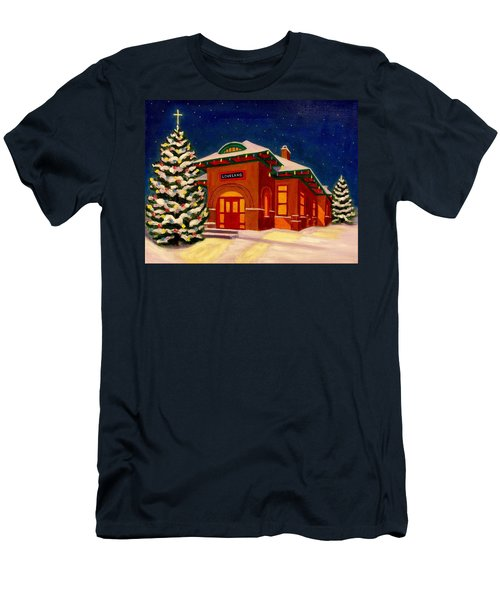 Loveland Depot At Christmas Men's T-Shirt (Athletic Fit)