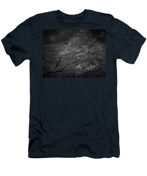 Loxahatchee Heron At Sunset Men's T-Shirt (Athletic Fit)