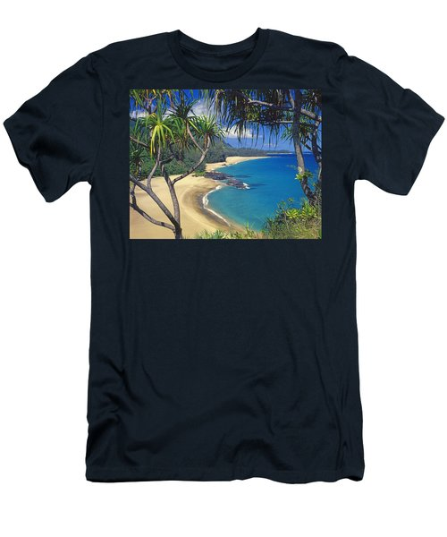 Lumahai Beach Men's T-Shirt (Athletic Fit)
