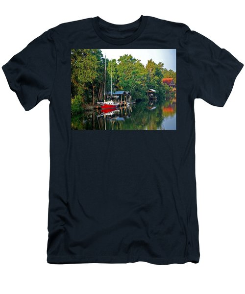 Magnolia Red Boat Men's T-Shirt (Athletic Fit)