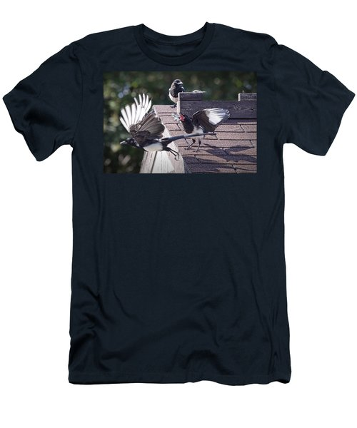 Magpie Dispute Men's T-Shirt (Slim Fit) by Randall Nyhof