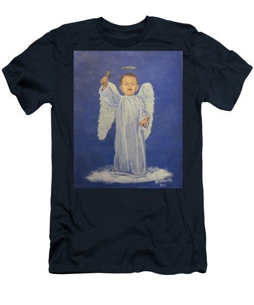 Make A Joyful Noise Men's T-Shirt (Slim Fit) by Wendy Shoults
