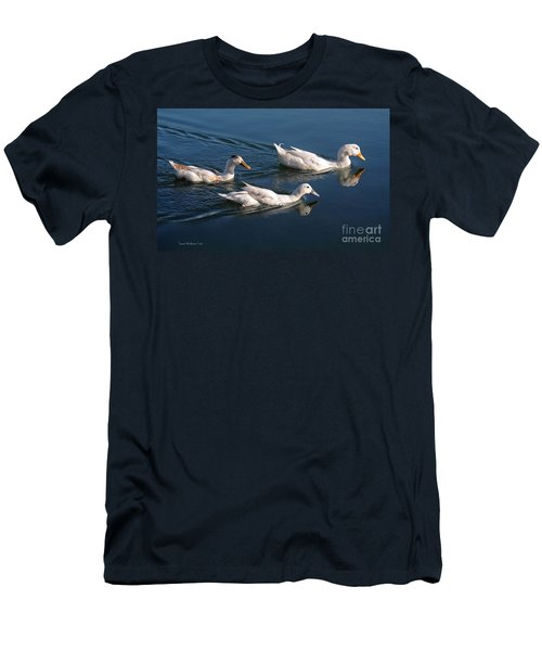 Men's T-Shirt (Slim Fit) featuring the photograph Mama Duck Leads The Way by Susan Wiedmann