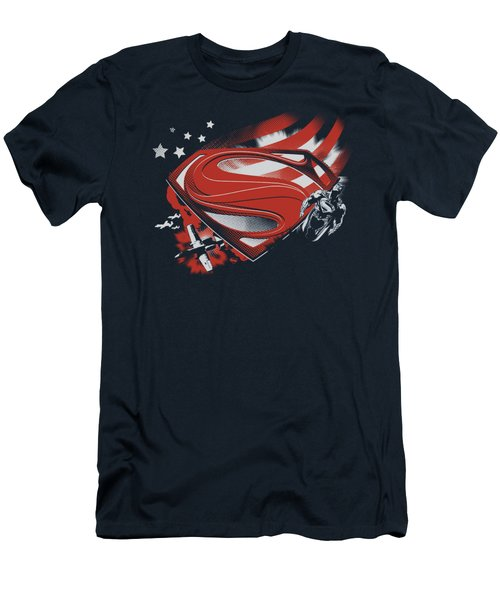 Man Of Steel - Americas Hero Men's T-Shirt (Athletic Fit)