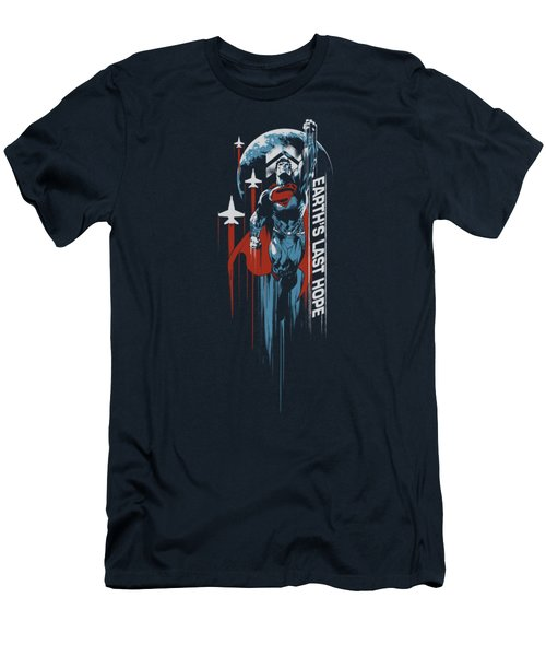 Man Of Steel - Earths Last Hope Men's T-Shirt (Athletic Fit)