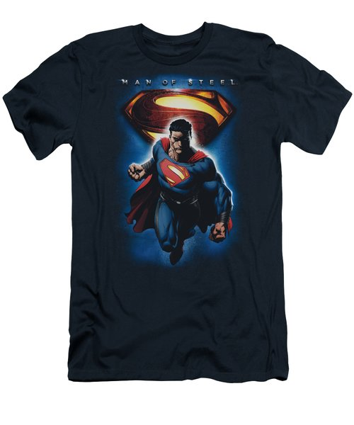 Man Of Steel - Superman And Symbol Men's T-Shirt (Athletic Fit)