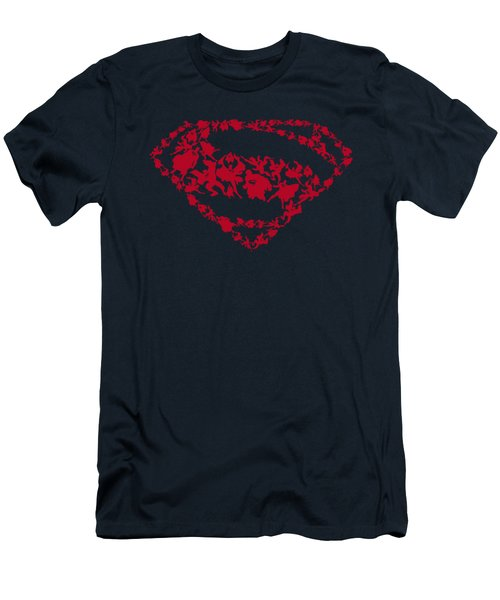 Man Of Steel - Supes Shapes Men's T-Shirt (Athletic Fit)