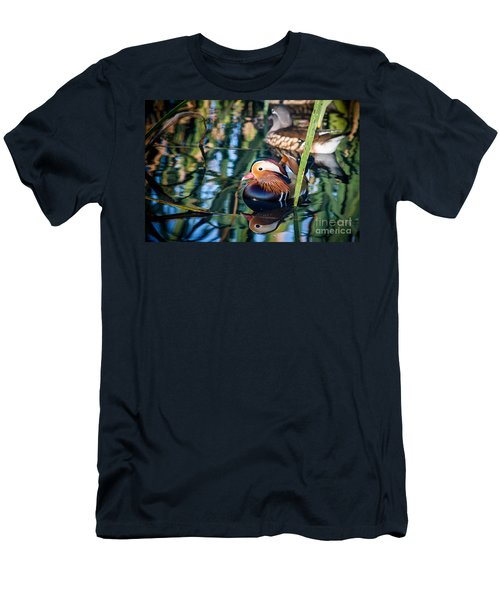 Mandarin Duck Reflections Men's T-Shirt (Athletic Fit)