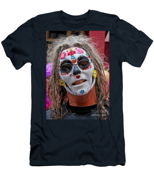 Mardi Gras Happy Face Men's T-Shirt (Athletic Fit)