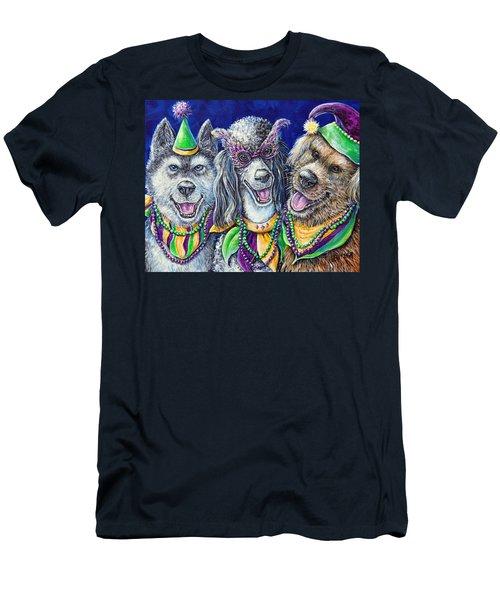 Mardi Gras Party Pups Men's T-Shirt (Athletic Fit)