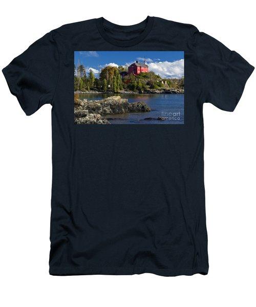 Marquette Harbor Light - D003224 Men's T-Shirt (Athletic Fit)