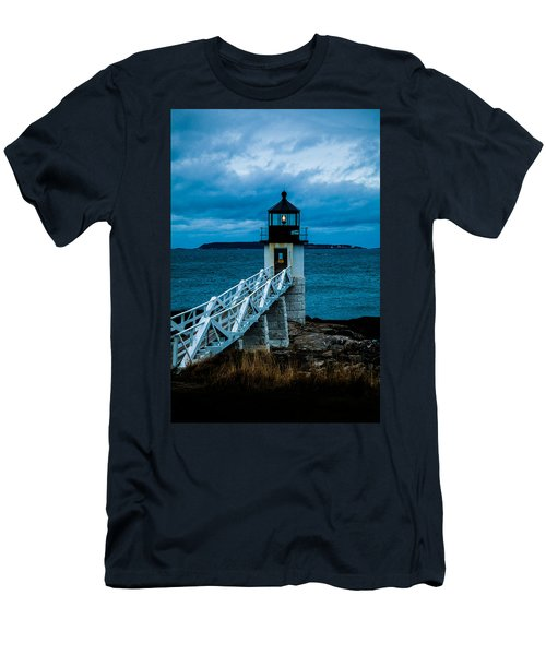 Marshall Point Light At Dusk 1 Men's T-Shirt (Slim Fit)