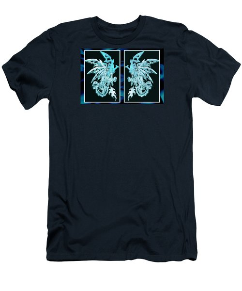 Mech Dragons Diamond Ice Crystals Men's T-Shirt (Athletic Fit)