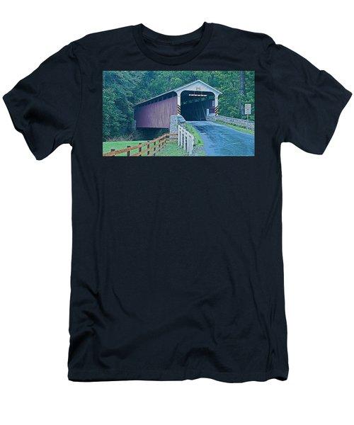 Mercer's Mill Covered Bridge Men's T-Shirt (Athletic Fit)
