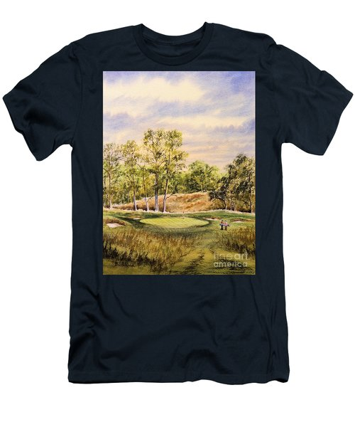 Men's T-Shirt (Athletic Fit) featuring the painting Merion Golf Club by Bill Holkham