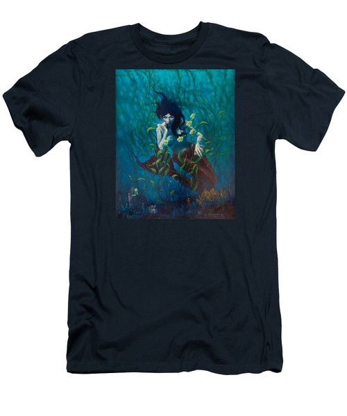 Men's T-Shirt (Slim Fit) featuring the painting Mermaid by Rob Corsetti