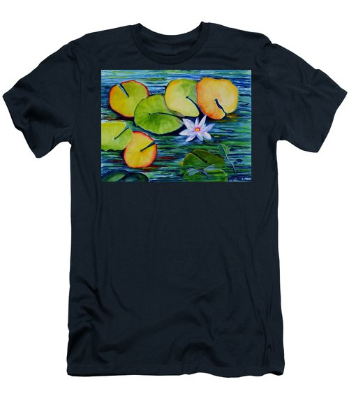 Whimsical Waterlily Men's T-Shirt (Athletic Fit)