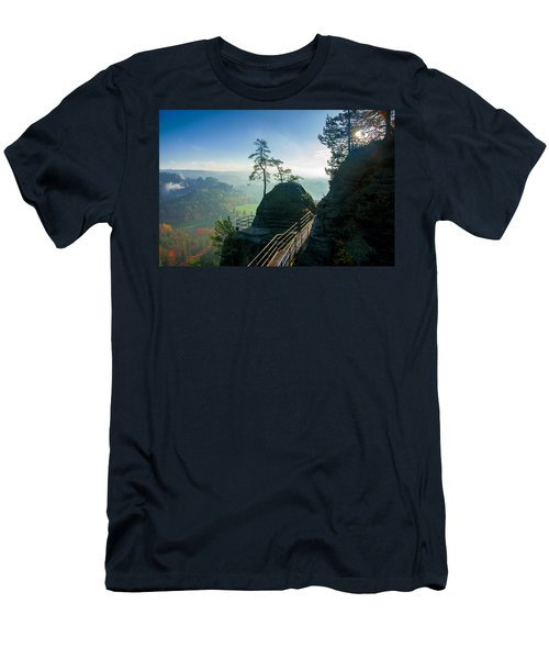 Misty Sunrise On Neurathen Castle Men's T-Shirt (Athletic Fit)
