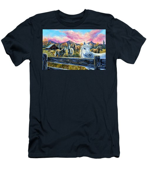 Mmmm..my Magic Mountain Moment Men's T-Shirt (Athletic Fit)
