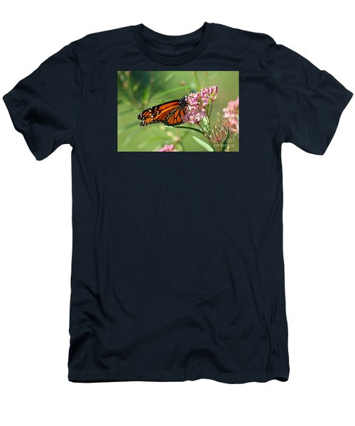 Monarch Butterfly On Milkweed Men's T-Shirt (Athletic Fit)