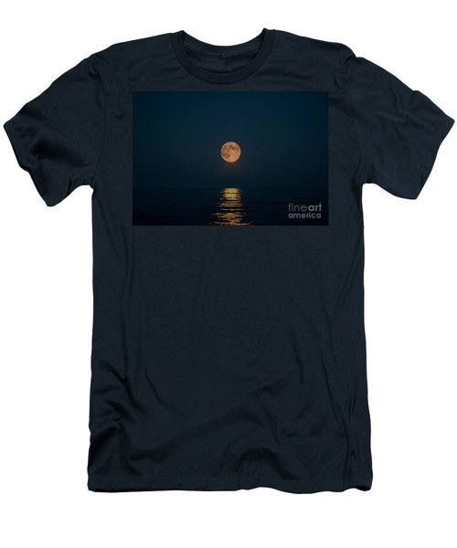 Moon Over Lake Of Shining Waters Men's T-Shirt (Athletic Fit)
